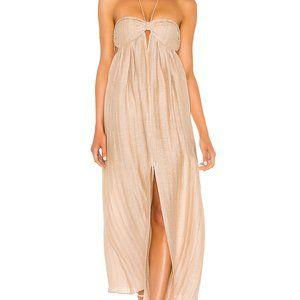 L'Academie The Jolena Maxi Dress in Wheat NWOT